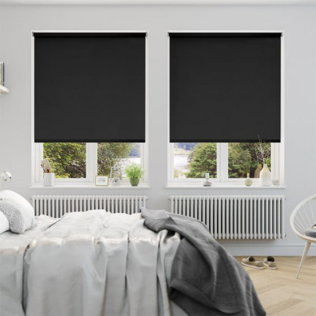 Aruba Black Blackout Roller Blind