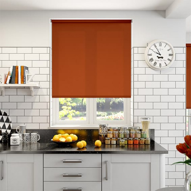 Aruba Brick Plain Roller Blind
