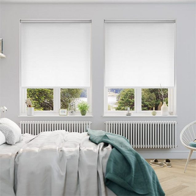 Aruba Brilliant White Blackout Roller Blind