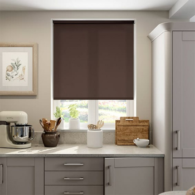 Aruba Coffee Bean Plain Roller Blind