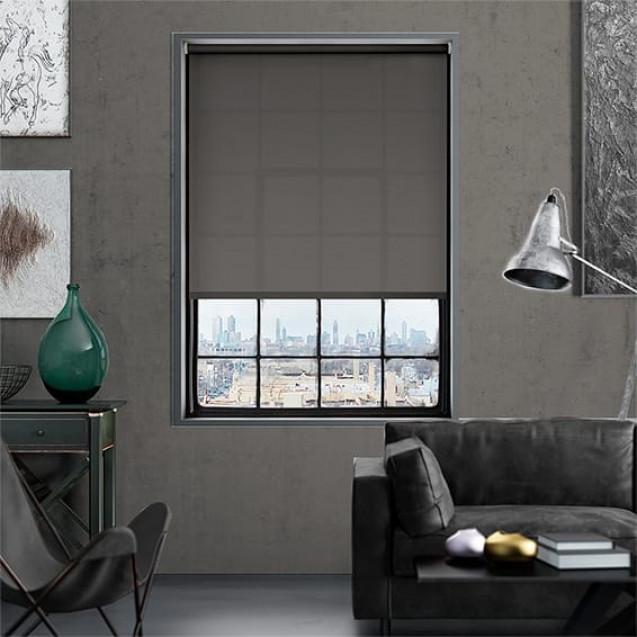 Aruba Dark Grey Plain Roller Blind