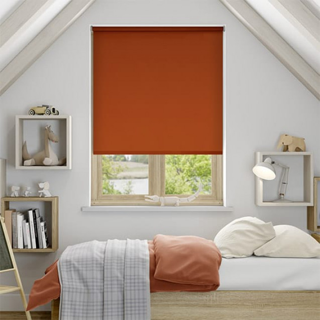 Aruba Rust Blackout Roller Blind