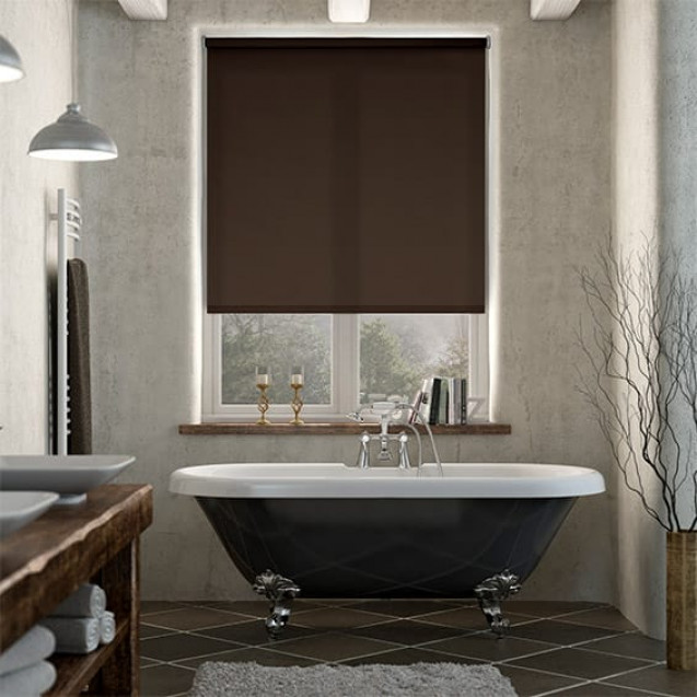 Chelsea Chocolate Brown Blackout Roller Blind
