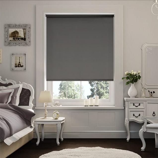 Chelsea Dark Grey Blackout Roller Blind