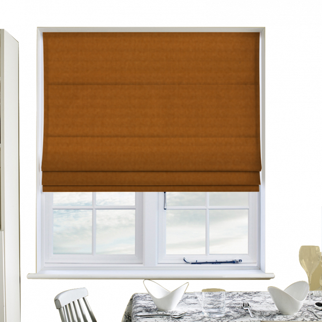 Cotton Candy Canary Roman Blinds
