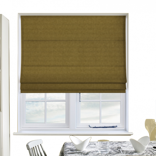 Cotton Candy Celery Roman Blinds