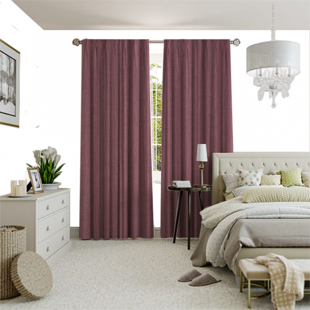 Cotton Candy Desert Rose Curtain