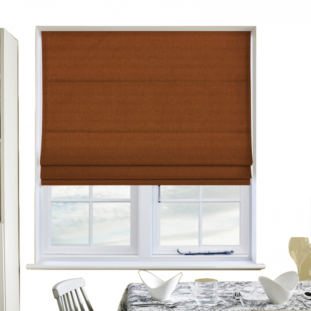 Cotton Candy Fire Roman Blinds