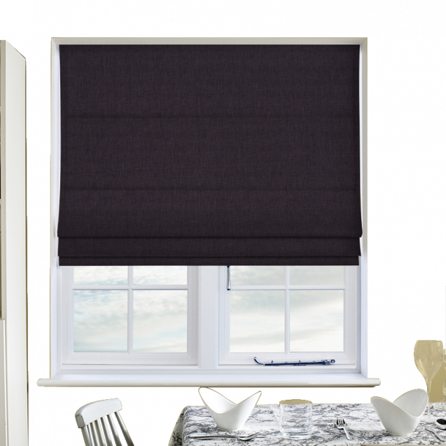 Cotton Candy Grape Roman Blinds