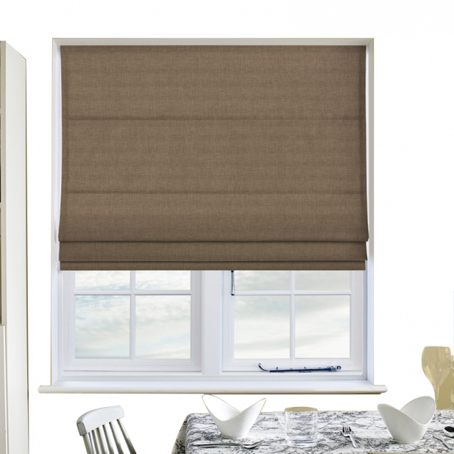 Cotton Candy Hessian Roman Blinds