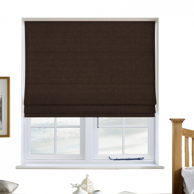 Cotton Candy Iron Roman Blinds
