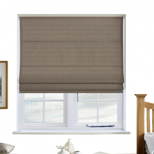 Cotton Candy Ivory Roman Blinds