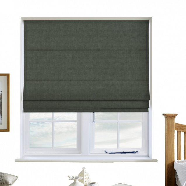 Cotton Candy Lily Green Roman Blinds