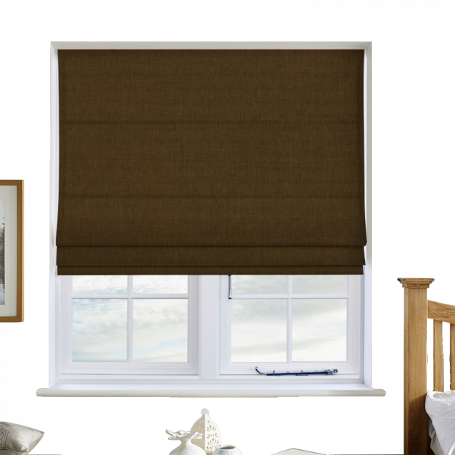 Cotton Candy Olive Roman Blinds
