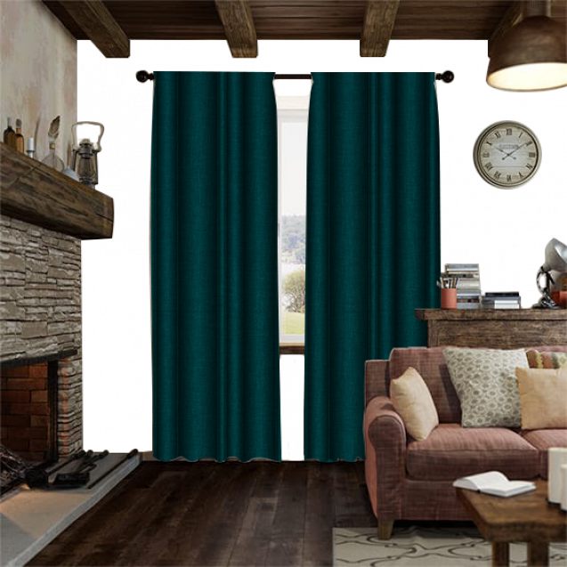 Cotton Candy Teal Curtain