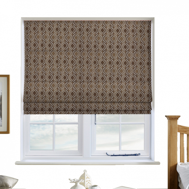Crystal Gold Roman Blinds