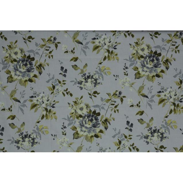 Sombre Prints Powder Grey Curtain