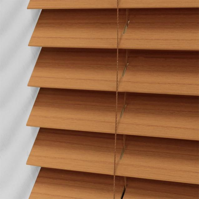 Warm Oak 50mm Wood Venetian